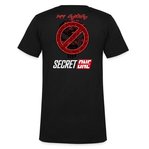 Aff Sucks!! - Ekologisk T-shirt med V-ringning herr från Stanley & Stella