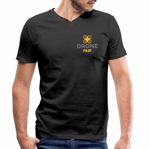 Logo Drone Pilot 5 klein - Mannen bio T-shirt met V-hals van Stanley & Stella