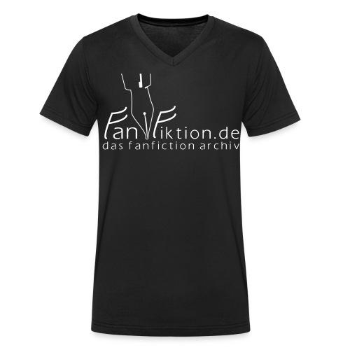 Logo Schwarz auf Weiß - Männer Bio-T-Shirt mit V-Ausschnitt von Stanley & Stella