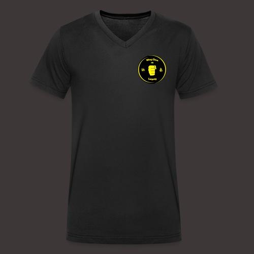 Logo Kampfkunstschule Leipzig - Männer Bio-T-Shirt mit V-Ausschnitt von Stanley & Stella