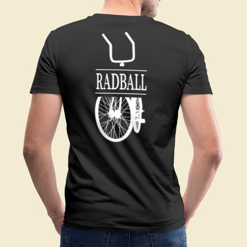 Radball   Retro White - Männer Bio-T-Shirt mit V-Ausschnitt von Stanley & Stella