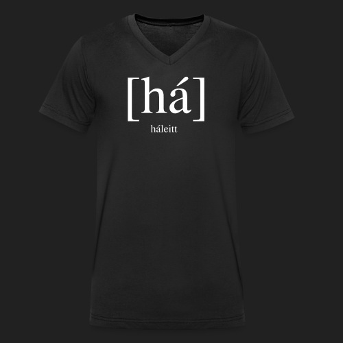 [há] háleitt - Men's Organic V-Neck T-Shirt by Stanley & Stella