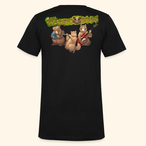 Tshirt groupe dos - T-shirt bio col V Stanley & Stella Homme