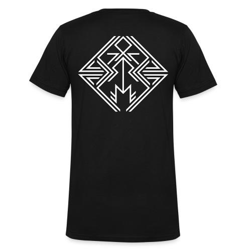 JDW-Designs Logo - Mannen bio T-shirt met V-hals van Stanley & Stella