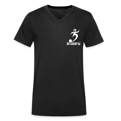 sg geest 05 logo navy - Männer Bio-T-Shirt mit V-Ausschnitt von Stanley & Stella