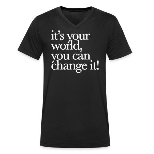 (yourworld) - Männer Bio-T-Shirt mit V-Ausschnitt von Stanley & Stella