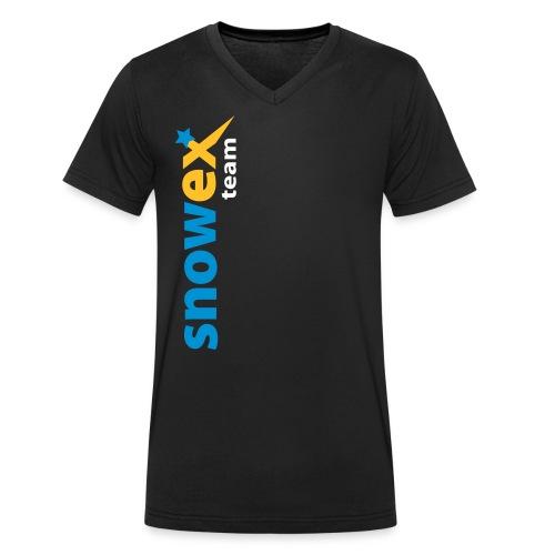bike_logo_blue - Männer Bio-T-Shirt mit V-Ausschnitt von Stanley & Stella