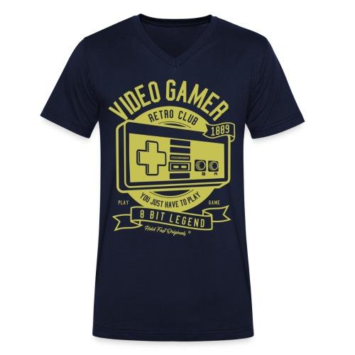 HOLD FAST ORIGINALS Retro Gamer Gold 1889 - Männer Bio-T-Shirt mit V-Ausschnitt von Stanley & Stella
