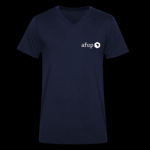 Logo AFUP Blanc - T-shirt bio col V Stanley & Stella Homme