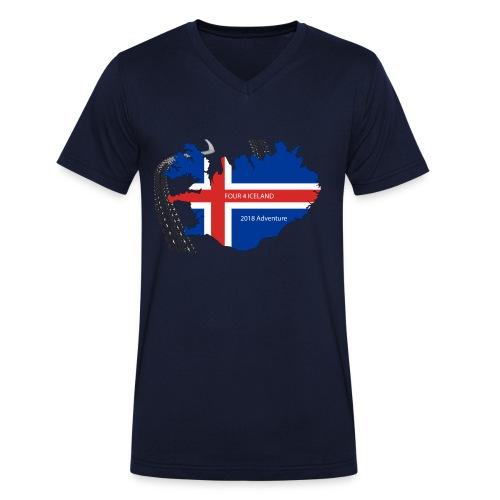 Four4Iceland Adventure - Männer Bio-T-Shirt mit V-Ausschnitt von Stanley & Stella