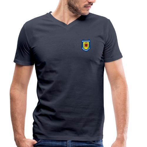 Wappen (farbig) - Männer Bio-T-Shirt mit V-Ausschnitt von Stanley & Stella