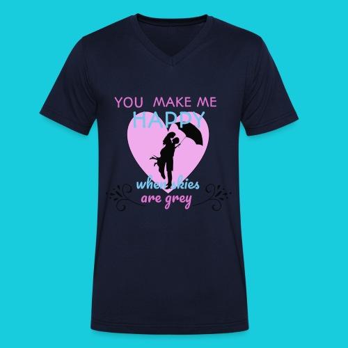 Zwapp Designs Happy - Männer Bio-T-Shirt mit V-Ausschnitt von Stanley & Stella