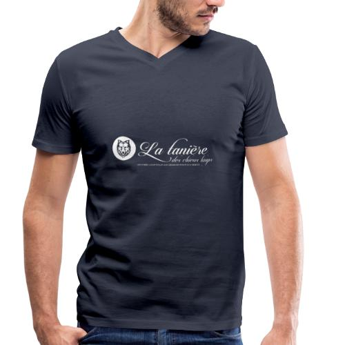 La Tanière des Chiens-Loups (logo plus grand) - T-shirt bio col V Stanley & Stella Homme