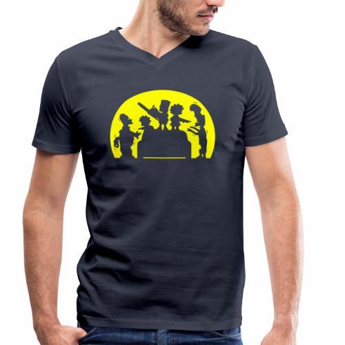 FAMILIA ZOMBIE - Camiseta ecológica hombre con cuello de pico de Stanley & Stella