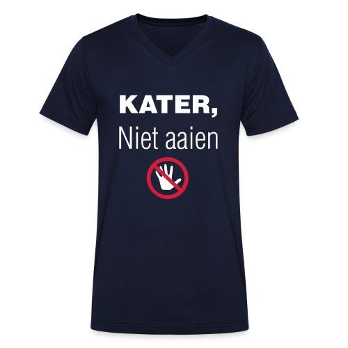 Kater niet aaien - Mannen bio T-shirt met V-hals van Stanley & Stella
