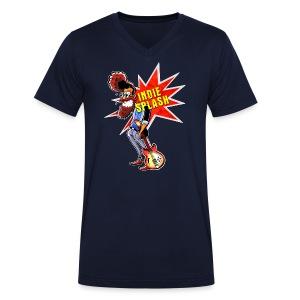 Indie Splash - Männer Bio-T-Shirt mit V-Ausschnitt von Stanley & Stella