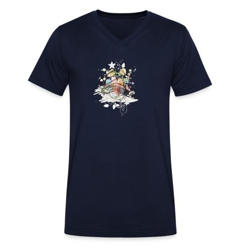 DJ Headphones - Männer Bio-T-Shirt mit V-Ausschnitt von Stanley & Stella