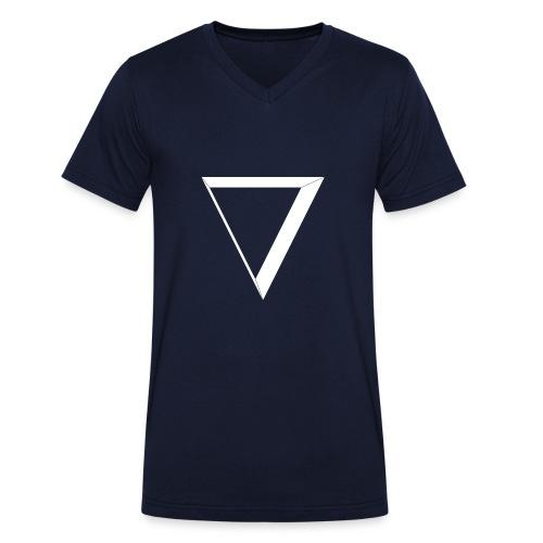 white triangle - Ekologiczna koszulka męska z dekoltem w serek Stanley & Stella