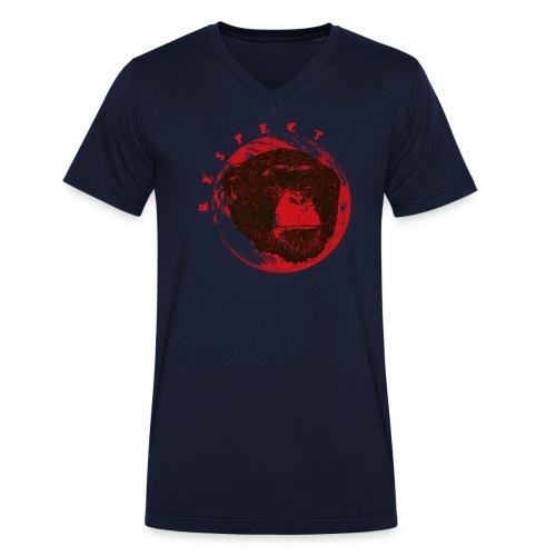 Respect chimpanze - T-shirt bio col V Stanley & Stella Homme