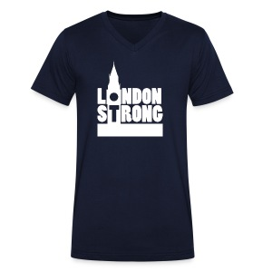 London Strong II - Men's Organic V-Neck T-Shirt by Stanley & Stella