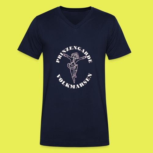 Logo_Prinzengarde_weiss - Männer Bio-T-Shirt mit V-Ausschnitt von Stanley & Stella