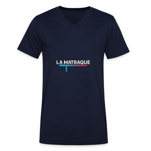 LA MATRAQUE. - T-shirt bio col V Stanley & Stella Homme