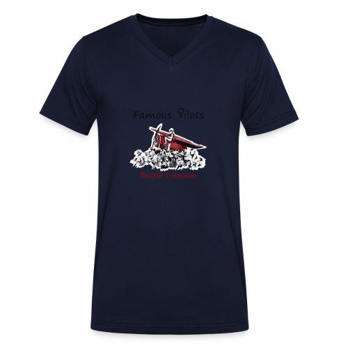 Famous ♀ilots Bessie Coleman - Männer Bio-T-Shirt mit V-Ausschnitt von Stanley & Stella