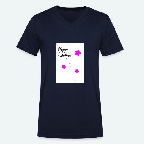 happybirthday - Männer Bio-T-Shirt mit V-Ausschnitt von Stanley & Stella