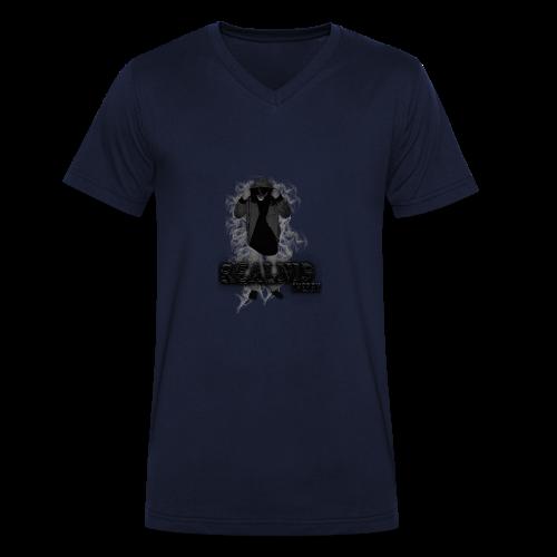 Realnis & Cherry Merch - Männer Bio-T-Shirt mit V-Ausschnitt von Stanley & Stella