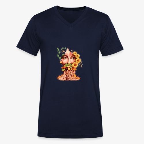 Fruit & Flowers - Men's Organic V-Neck T-Shirt by Stanley & Stella