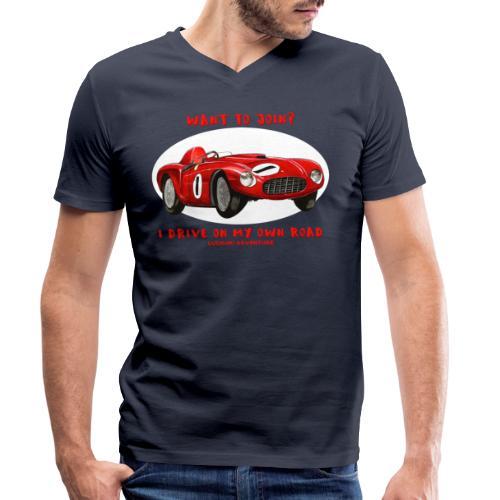 Happy Car Red - Ekologisk T-shirt med V-ringning herr från Stanley & Stella