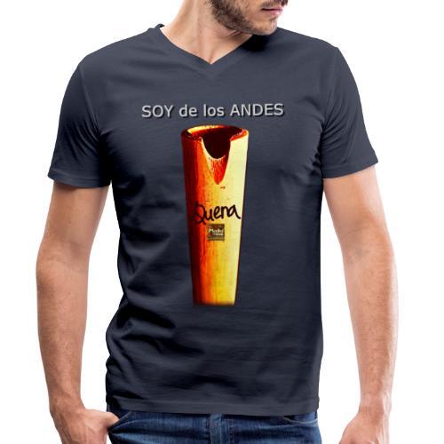 De los ANDES - Quena II - Camiseta ecológica hombre con cuello de pico de Stanley & Stella