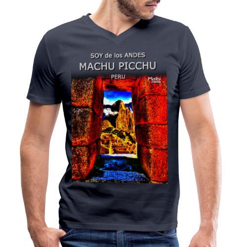 SOJA de los ANDES - Machu Picchu II - Camiseta ecológica hombre con cuello de pico de Stanley & Stella