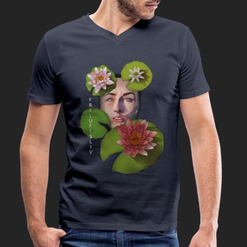 Friluftsliv L'art de se connecter avec la nature - T-shirt bio col V Stanley & Stella Homme