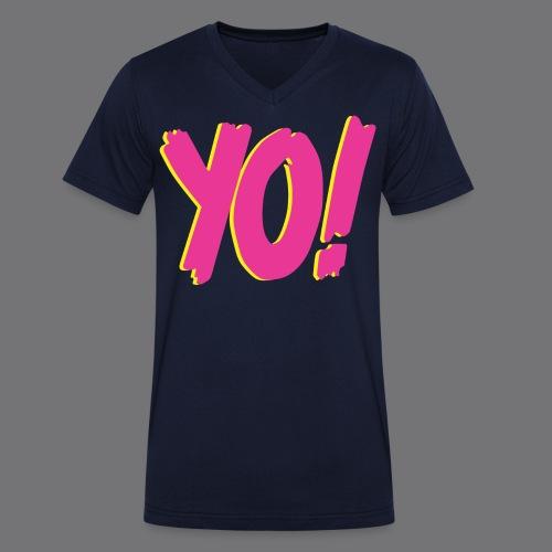 YO Tee Shirts - Men's Organic V-Neck T-Shirt by Stanley & Stella