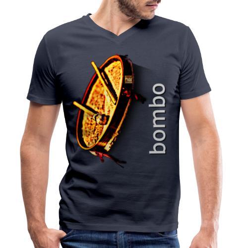 Bombo - Camiseta ecológica hombre con cuello de pico de Stanley & Stella