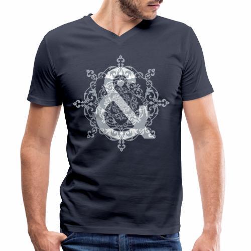 Escudo dark grey & ... - Camiseta ecológica hombre con cuello de pico de Stanley & Stella