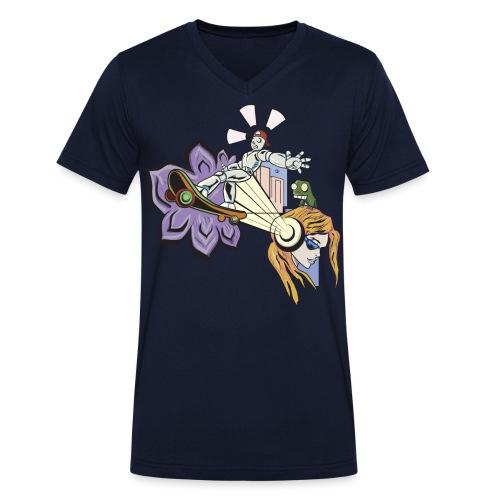 Spring Doodle - Mannen bio T-shirt met V-hals van Stanley & Stella