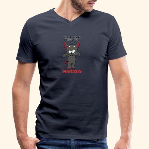 Zwergschlammelfen - Hier und Jetzt, Sofort! - Männer Bio-T-Shirt mit V-Ausschnitt von Stanley & Stella