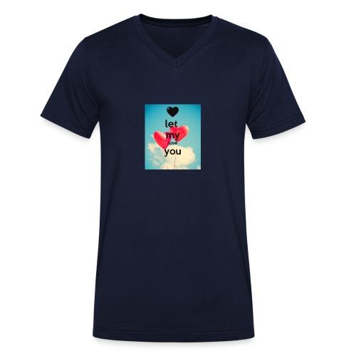 let my love you 1 - Mannen bio T-shirt met V-hals van Stanley & Stella