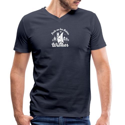 Wismar Perle an der Ostsee - Männer Bio-T-Shirt mit V-Ausschnitt von Stanley & Stella
