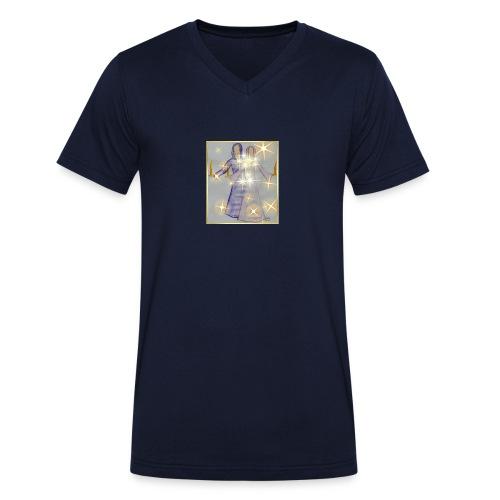 Ljusbärare stars JPG - Ekologisk T-shirt med V-ringning herr från Stanley & Stella