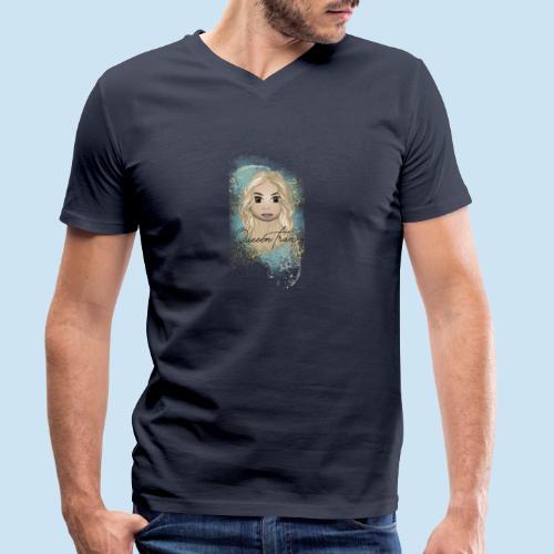 QueeenTran Edition - Økologisk T-skjorte med V-hals for menn fra Stanley & Stella
