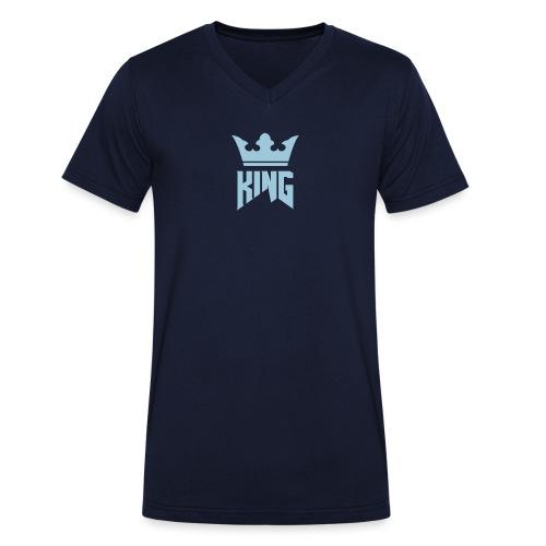 Single logo white - Men's Organic V-Neck T-Shirt by Stanley & Stella