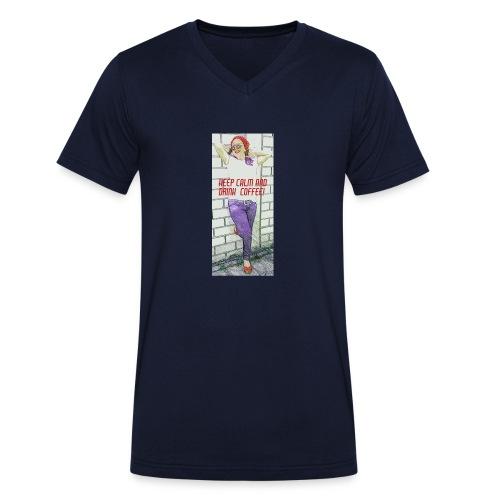 Rockabella Blue Jeans - Männer Bio-T-Shirt mit V-Ausschnitt von Stanley & Stella