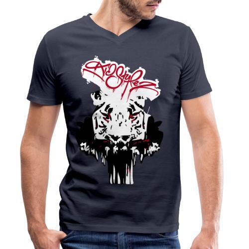 Tiger Samtig Weich - Männer Bio-T-Shirt mit V-Ausschnitt von Stanley & Stella