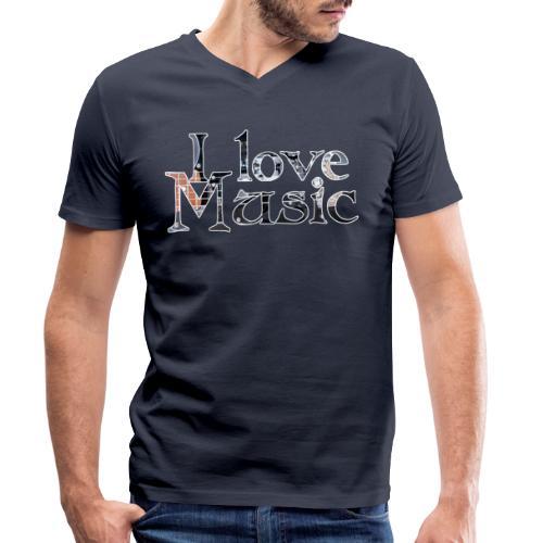 I love Music - Männer Bio-T-Shirt mit V-Ausschnitt von Stanley & Stella
