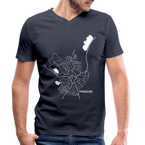 Forschd Karte - Männer Bio-T-Shirt mit V-Ausschnitt von Stanley & Stella