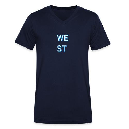 WEST LOGO - T-shirt ecologica da uomo con scollo a V di Stanley & Stella