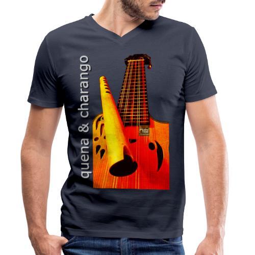 Quena y Charango I - Camiseta ecológica hombre con cuello de pico de Stanley & Stella